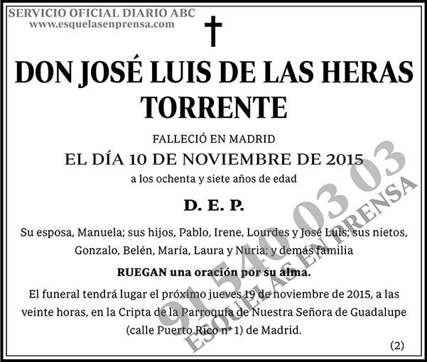 José Luis de las Heras Torrente